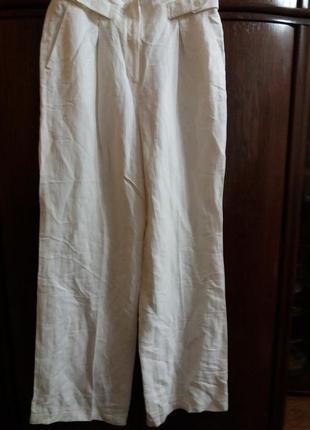 Летние легкие широкие брюки----12р- лен \вискоза
