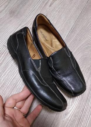 Кожаные туфли балетки комфортные из кожи натуральной