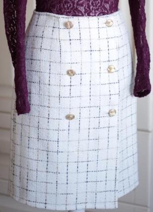 Твидовая юбка-трапеция