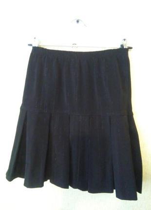 Костюм тройка школьный пиджак юбка брюки 10-12 лет2 фото