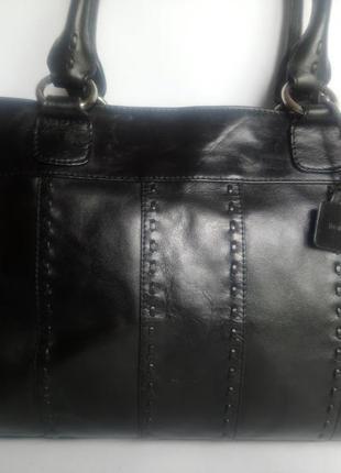 Большая брендовая кожаная сумка m&s collection