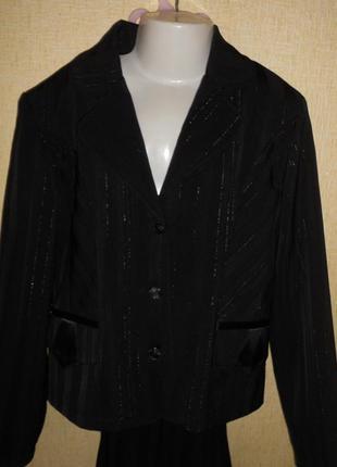 Костюм тройка школьный пиджак юбка брюки 10-12 лет1 фото