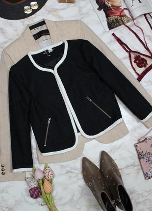 Обнова! блейзер пиджак жакет твидовый короткий с стиле шанель