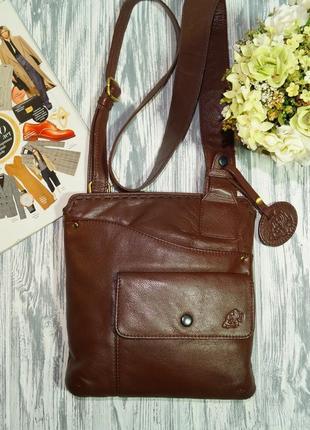 Кожа. стильная сумка через плечо, практичная кросс-боди