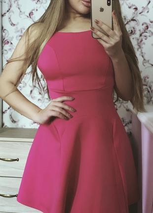 Розовое платье дайвинг