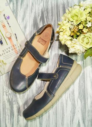 Fitflop. кожа. комфортные туфли на низком ходу премиум качества