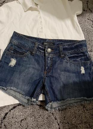 Скидка только сегодня!крутые джинсовые шорты only