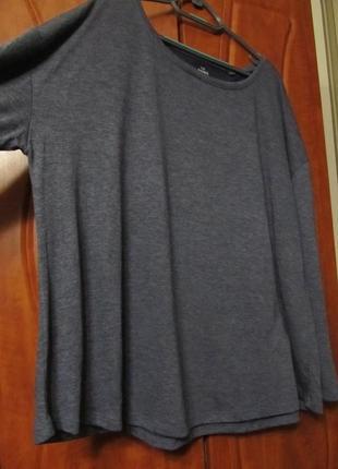Базовая кофта свитшот большого размера цвет-графит