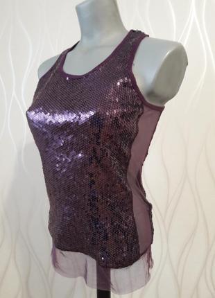 Очень стильная, нарядная блуза из ткани из пайеток - хамелеон. kira plastilina
