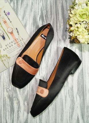 Bata. испания. роскошные туфли лоферы на низком ходу премиум качества