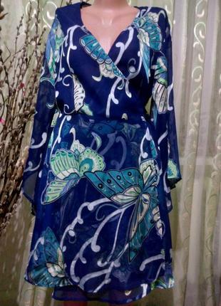 Шикарное платье на запах/пляжная туника 50-52