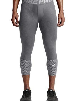 Мужские компрессионные штаны 3/4 для занятий спортом от nike pro hypercool