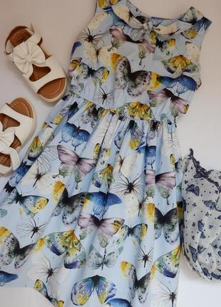 🌈шикарна сукня next на 7 р.122 см