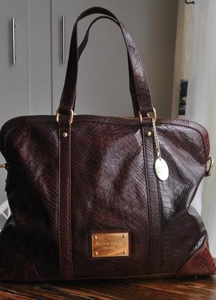 Кожаная большая сумка smith & canova / шкіряна сумка шоппер
