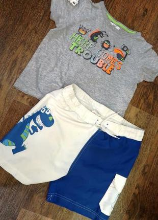 Классный летний костюм , шорты и футболка