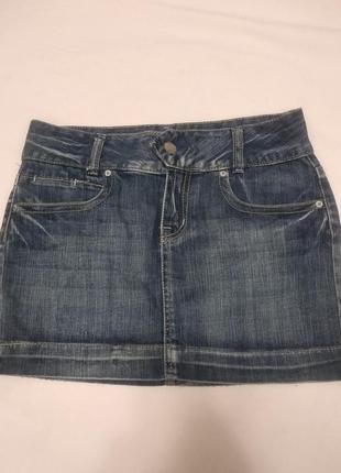Распродажа -50% на все вещи !!!джинсовая юбка colours of the world (46-48р)