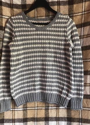Gap фирменный свитер полосатый джемпер в полоску. р. м