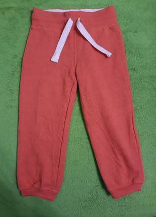 Спортивные штаны начес на 1-2 года на баечке утепленные пр-во германия супер качество
