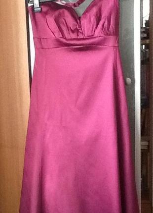 Очень красивое вечернее атласное платье warehouse. цена символическая