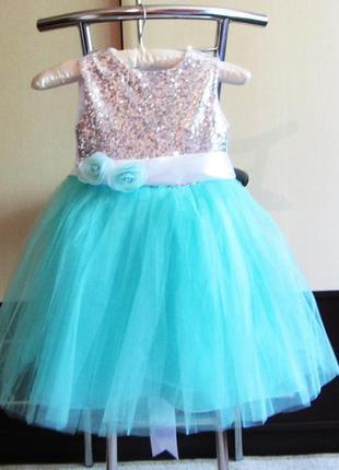 Авторское на выпускной платье на 6 лет