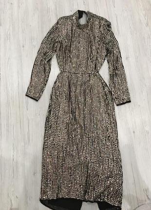 Роскошное платье миди в паетки asos