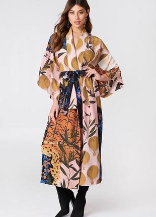 Платье кимоно легкое длинное макси 100% шелк платье от stiya goya