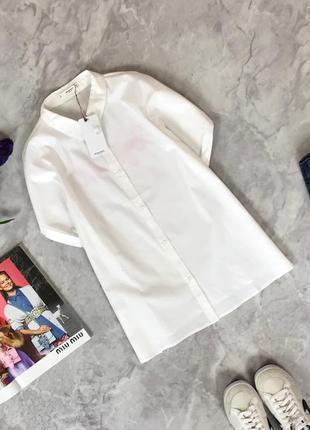 Белоснежная рубашка с контрастной вышивкой на спине  bl1916116  mango