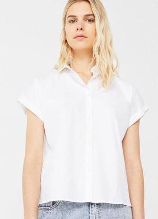 Белоснежная рубашка с контрастной вышивкой на спине  bl1916116  mango4 фото