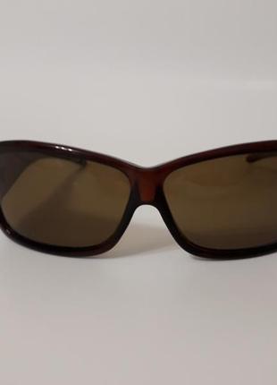 Солнцезащитные polarized фирменные коричневые очки унисекс