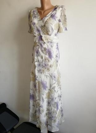 👑пастельное струящееся платье миди в цветы👑ретро стиль