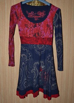 Р. s/ 152-158 см.  трикотажное платье для девочки. яркое платье. desigual