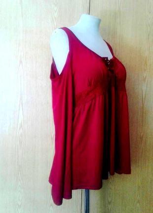 Трикотажна блузочка бордо, 3xl.