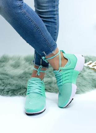 Шикарные кроссовки nike presto green