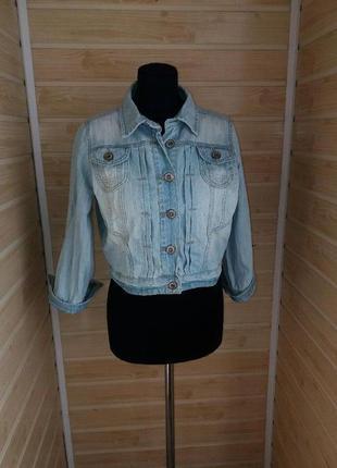 Джинсовая куртка укороченная р.l-xl look