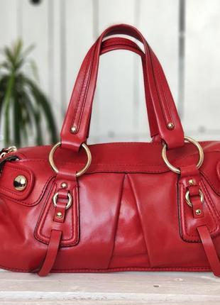 Dkny 100% оригинальная кожаная сумка + кошелек