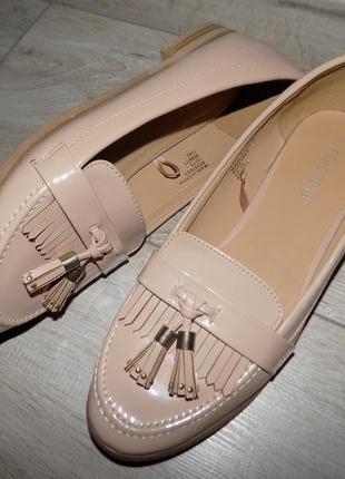 Лаковые оксфорды, туфли нарядные