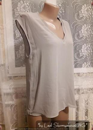 Новая лёгкая фирменная zara блуза зара в приятном сером цвете, размер м-л