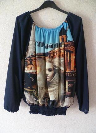 Кофта, блуза, блузка с принтом