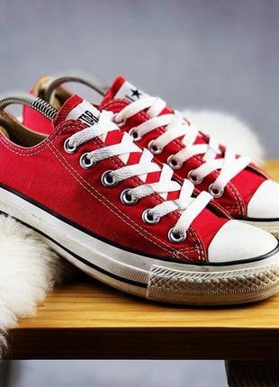 Кеды женские красные converse all star  low  red