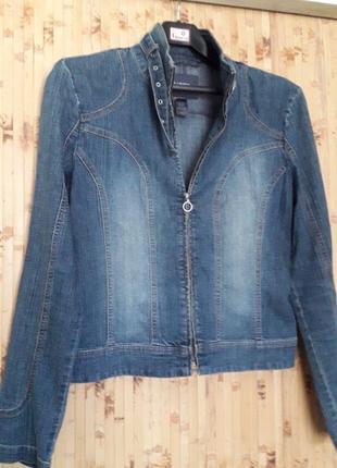 Джинсовая стрейч куртка пиджак жакет  бренд mexx