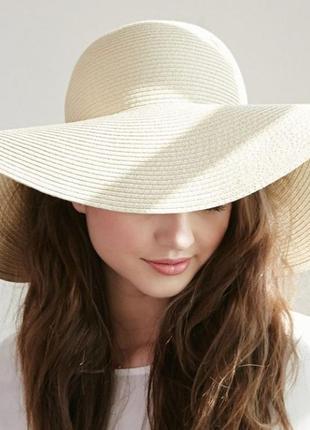 Шляпа бумажная соломка h&m широкие поля