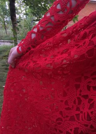 Выпускное красное платье