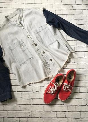 Оригвнальна джинсова куртка-рубашка