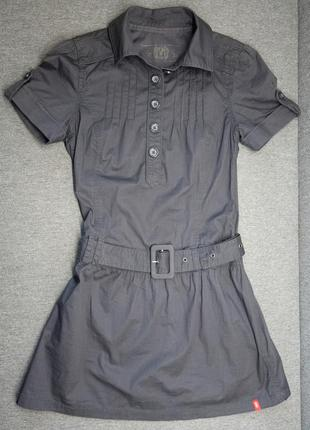 Платье - рубашка esprit, edc с заниженной талией