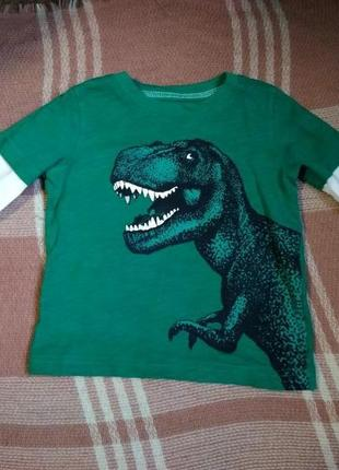 Реглан мальчику на 18 месяцев, с динозавром, хорошее состояние