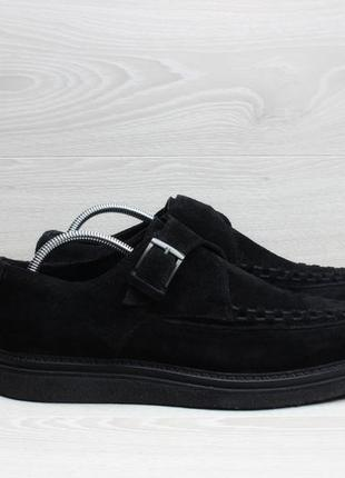 Замшевые мужские туфли криперсы all saints, размер 44 - 44.5 (монки)
