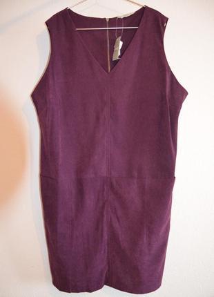 George стильное платье большого размера под замшу с карманами