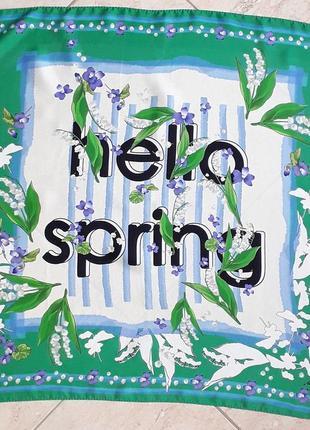 Привіт весна шовк друкований шарф