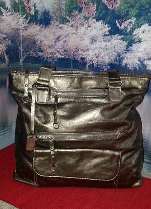 Очень красивая золотисто оливковая сумочка