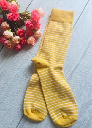 Модные высокие носки полоска